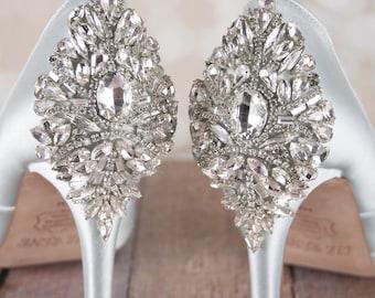 Wedding Shoes, Bridal Heels, Crystal Shoes, Blue Wedding Shoes, Something Blue, Crystal Heels, Custom Wedding Shoes, Design My Own Wedding