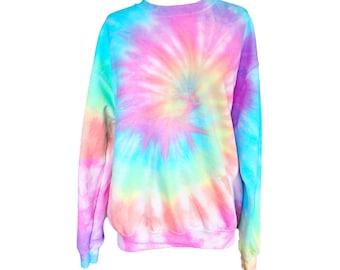 Tie Dye Sweatshirt - Pastel Tie Dye Sweatshirt - Gift Ideas - Pastel Tiedye
