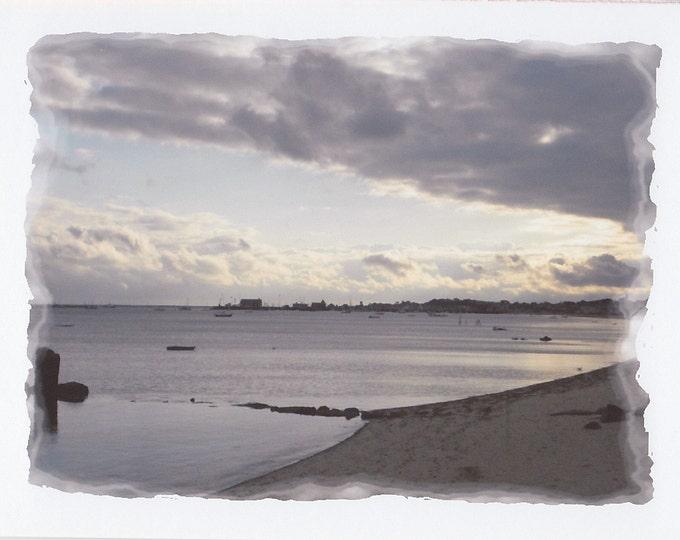 Sea Meets Sky Cape Cod blank greeting card