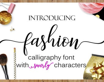 Fonts Download font Swirly Font Script Font Digital download swash font Cricut font Handwritten font calligraphy font wedding font  bundle