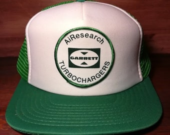 Vintage Garret AiResearch turbochargers snapback trucker hat