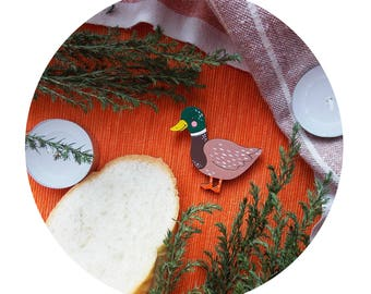 duck brooch