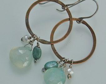 Copper & Seafoam Earrings
