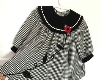 12 month classy checkered vintage dress