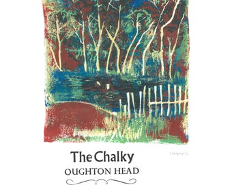 The Chalky- Oughtonhead Lino and Letterpress Print- Poster
