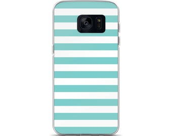 Aqua Stripes Samsung Case
