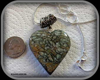 Magic Paint Pendant on Silver Chain - Valentine's Day Sale