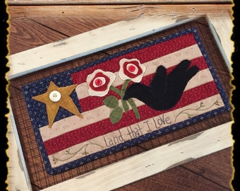 Freedom Flag wool appliqué kit and pattern