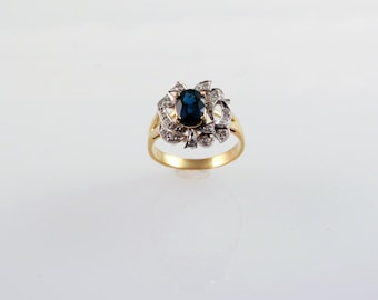 Fire & Ice Sapphire Ring