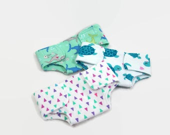 "Doll Diapers for 15 Inch Dolls - Made to Fit 15"" Dolls Like Bitty Baby Doll Clothes"