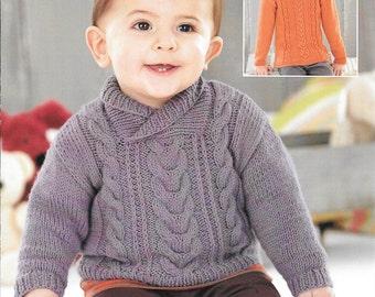 Knitting pattern Sirdar snuggly D.K. 4584 birth to 7 years