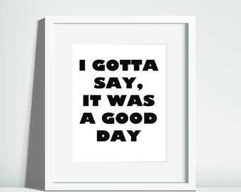 Digital Art - old school hip hop - Ice Cube lyrics - It was a good day 8x10 download print