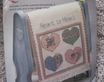 Cross Stitch Kit - Country Quilt Rack - with FREE Design Chart - NEW NIP