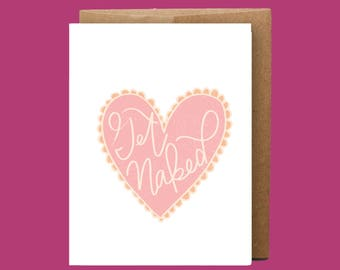 Funny and Honest Card | Naked Card | Sexy Card | Valentines Day Card | Funny Valentines Day Card | Card for Partner | Funny Love Card |