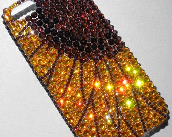 For iPhone SE or 5 / 5S - SunFlower - Crystal Diamond Rhinestone BLING Back Case handmade using 100% Swarovski Crystals
