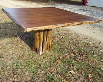Black walnut dining table, stump table, walnut table, stump dining table, rustic table, live edge table