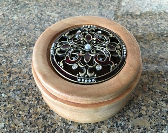 Pewter Lidded Container