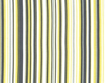 Citron Gray Play Stripe fabric CX3137 | Cotton Quilting fabric | Michael Miller