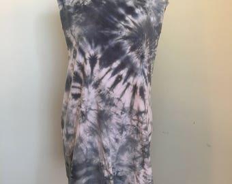 Hand Dyed Studded T Shirt Dress