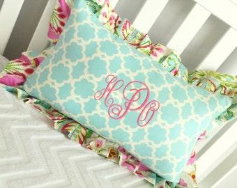 You Design Custom Monogram Nursery pillow.