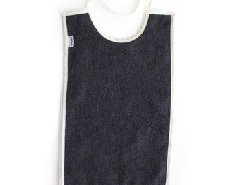 Baby Toddler Bib Cotton Large Long For Eating - Color: GREY