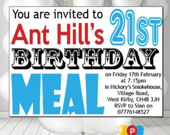 Personalised Birthday Party Invites A6 Cards Pack Of 12