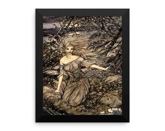 Arthur Rackham Vintage Art Print Reproduction  Undine Framed poster