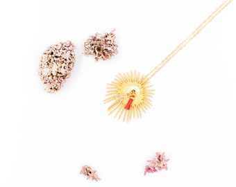 Necklace Sea Urchin with two small tassels