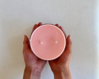 melon + apricot candle