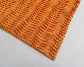 golden orange textured pleated pin tuck table runner 54 52 60 72 inch silk custom made custom sizes