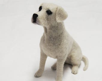 Labrador, Needle Felted Dog, Custom Made Dog Portrait, Labrador Retriever or any other breed - made to order - MEDIUM SIZE