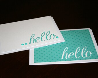 Hello Greeting Cards, Blank Cards, Hello Cards