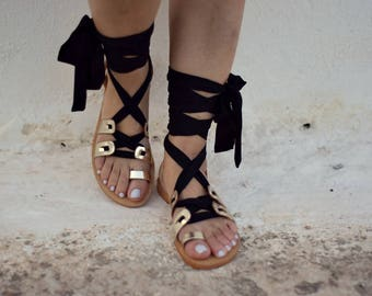 Gladiator leather sandals, Womens leather shoes, Greek sandals, gifts, Strappy sandals, Handmade sandals