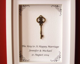 The Key to A Happy Marriage, Box frame