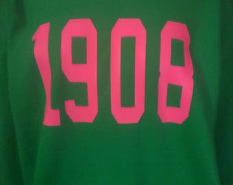 pink and green 1908 sweater