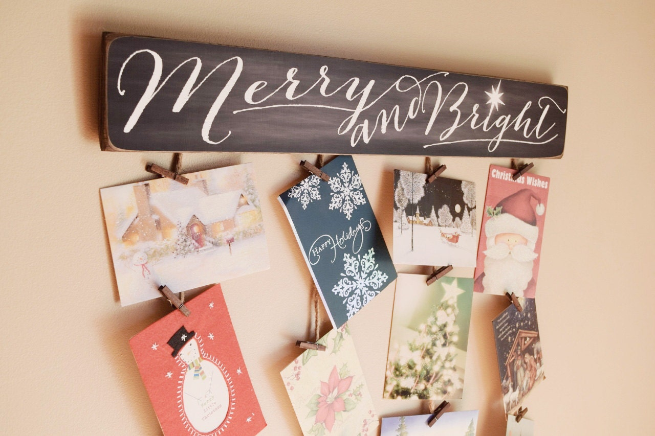 Merry bright merry mail christmas card holder christmas request a custom order and have something made just for you kristyandbryce Choice Image