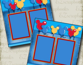Magical Balloons - Disney - 2 Premade Scrapbook Pages - EZ Layout 2955
