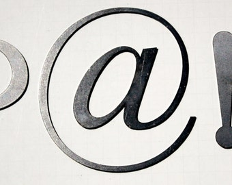 "Classic 4"" Symbols | Laser Cut Metal Letters"