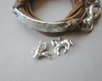 Equestrian Horse Charm Wrap Bracelet. Personalized GIFT. UNISEX  Wedding Boutique. Big Brother Sister. Mom Dad Birthday. Team Gift