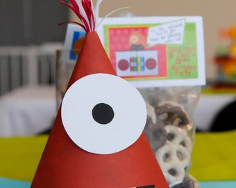 Yo Gabba Gabba Muno Inspired Party Hats