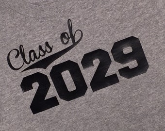 Graduation shirt for those entering or graduating from school - any year and color is available!