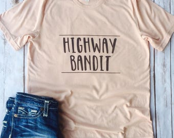 Highway Bandit, Western Shirt, Rodeo Shirt, Country Shirt, Boho Shirt, Bohemian Shirt, Hippie Shirt, Gypsy Shirt, Free Spirt, Good Vibes