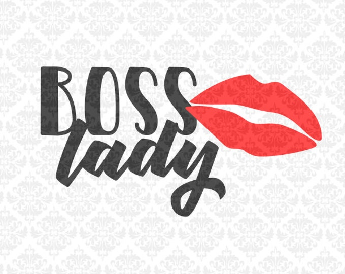 Boss Lady Work Hard Hussle Hard Self Employed Direct Sales SVG DXF Ai EPs PNG Vector Instant Download Commercial Cut File Cricut Silhouette