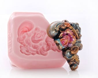 Rose Scroll Silicone Mold Cake Decorating Mold Food Safe Fondant Craft Jewelry Cabochon Mold Resin Polymer Clay Wax Soap Mold (562)