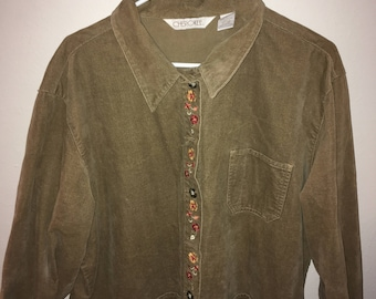 Cherokee Embroidered button up