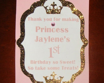 Princess Birthday Candy Buffet Sign