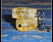 Citrine Earrings, Crystal...