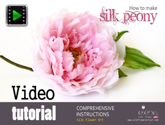 Making silk peony with professional flower making tools mightylinksfo Gallery