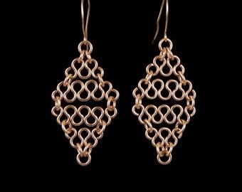 14k Gold Filled Diamond Shape Earings