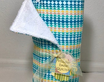 Unpaper towels, kitchen towels, Eco-friendly, Kitchen Decor, House Warming or Birthday gift, colorful triangles, set of 12